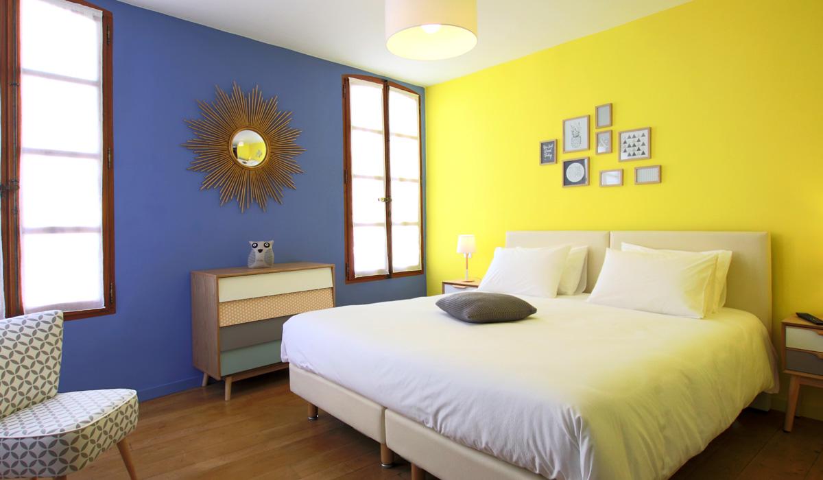 chambre scandinave buis les baronnies en dr me proven ale l 39 ancienne cure chambres d 39 h tes. Black Bedroom Furniture Sets. Home Design Ideas